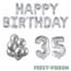 Feest-vieren 35 jaar Verjaardag Versiering Ballon Pakket zilver