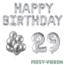 Feest-vieren 29 jaar Verjaardag Versiering Ballon Pakket zilver