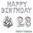 Feest-vieren 28 jaar Verjaardag Versiering Ballon Pakket zilver