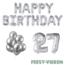 Feest-vieren 27 jaar Verjaardag Versiering Ballon Pakket zilver