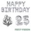 Feest-vieren 25 jaar Verjaardag Versiering Ballon Pakket zilver