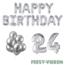 Feest-vieren 24 jaar Verjaardag Versiering Ballon Pakket zilver