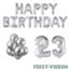 Feest-vieren 23 jaar Verjaardag Versiering Ballon Pakket zilver