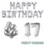 Feest-vieren 17 jaar Verjaardag Versiering Ballon Pakket zilver
