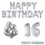 Feest-vieren 16 jaar Verjaardag Versiering Ballon Pakket zilver