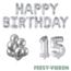 Feest-vieren 15 jaar Verjaardag Versiering Ballon Pakket zilver