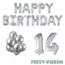 Feest-vieren 14 jaar Verjaardag Versiering Ballon Pakket zilver