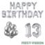 Feest-vieren 13 jaar Verjaardag Versiering Ballon Pakket zilver