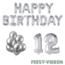 Feest-vieren 12 jaar Verjaardag Versiering Ballon Pakket zilver