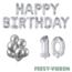 Feest-vieren 10 jaar Verjaardag Versiering Ballon Pakket zilver