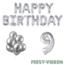 Feest-vieren 9 jaar Verjaardag Versiering Ballon Pakket zilver