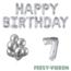 Feest-vieren 7 jaar Verjaardag Versiering Ballon Pakket zilver