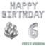 Feest-vieren 6 jaar Verjaardag Versiering Ballon Pakket zilver