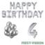 Feest-vieren 4 jaar Verjaardag Versiering Ballon Pakket zilver