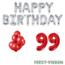 Feest-vieren 99 jaar Verjaardag Versiering Ballon Pakket rood & zilver