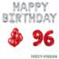 Feest-vieren 96 jaar Verjaardag Versiering Ballon Pakket rood & zilver