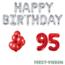 Feest-vieren 95 jaar Verjaardag Versiering Ballon Pakket rood & zilver