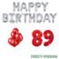 Feest-vieren 89 jaar Verjaardag Versiering Ballon Pakket rood & zilver