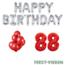 Feest-vieren 88 jaar Verjaardag Versiering Ballon Pakket rood & zilver