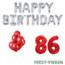 Feest-vieren 86 jaar Verjaardag Versiering Ballon Pakket rood & zilver