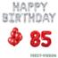 Feest-vieren 85 jaar Verjaardag Versiering Ballon Pakket rood & zilver