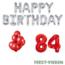 Feest-vieren 84 jaar Verjaardag Versiering Ballon Pakket rood & zilver