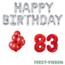Feest-vieren 83 jaar Verjaardag Versiering Ballon Pakket rood & zilver