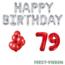 Feest-vieren 79 jaar Verjaardag Versiering Ballon Pakket rood & zilver