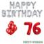 Feest-vieren 76 jaar Verjaardag Versiering Ballon Pakket rood & zilver