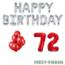 Feest-vieren 72 jaar Verjaardag Versiering Ballon Pakket rood & zilver