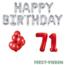Feest-vieren 71 jaar Verjaardag Versiering Ballon Pakket rood & zilver