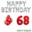 Feest-vieren 68 jaar Verjaardag Versiering Ballon Pakket rood & zilver