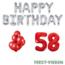 Feest-vieren 58 jaar Verjaardag Versiering Ballon Pakket rood & zilver