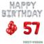 Feest-vieren 57 jaar Verjaardag Versiering Ballon Pakket rood & zilver