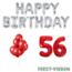 Feest-vieren 56 jaar Verjaardag Versiering Ballon Pakket rood & zilver