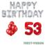 Feest-vieren 53 jaar Verjaardag Versiering Ballon Pakket rood & zilver