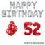 Feest-vieren 52 jaar Verjaardag Versiering Ballon Pakket rood & zilver