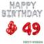 Feest-vieren 49 jaar Verjaardag Versiering Ballon Pakket rood & zilver