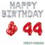 Feest-vieren 44 jaar Verjaardag Versiering Ballon Pakket rood & zilver