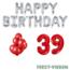 Feest-vieren 39 jaar Verjaardag Versiering Ballon Pakket rood & zilver