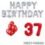 Feest-vieren 37 jaar Verjaardag Versiering Ballon Pakket rood & zilver