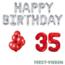 Feest-vieren 35 jaar Verjaardag Versiering Ballon Pakket rood & zilver