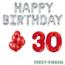 Feest-vieren 30 jaar Verjaardag Versiering Ballon Pakket rood & zilver