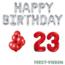 Feest-vieren 23 jaar Verjaardag Versiering Ballon Pakket rood & zilver