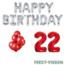 Feest-vieren 22 jaar Verjaardag Versiering Ballon Pakket rood & zilver