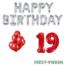 Feest-vieren 19 jaar Verjaardag Versiering Ballon Pakket rood & zilver