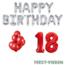 Feest-vieren 18 jaar Verjaardag Versiering Ballon Pakket rood & zilver