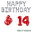 Feest-vieren 14 jaar Verjaardag Versiering Ballon Pakket rood & zilver