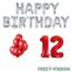 Feest-vieren 12 jaar Verjaardag Versiering Ballon Pakket rood & zilver
