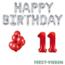 Feest-vieren 11 jaar Verjaardag Versiering Ballon Pakket rood & zilver